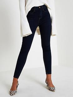 river-island-river-island-harper-high-rise-regular-leg-skinny-jeans--dark-auth