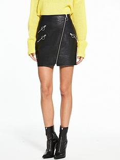 river-island-pu-zip-pelmet-skirt