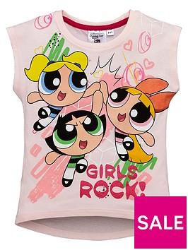 power-puff-girl-powerpuff-girls-glitter-curved-hem-t-shirt