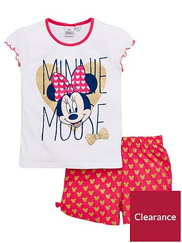 minnie-mouse-minnie-mouse-girls-shorty-glitter-pyjamas