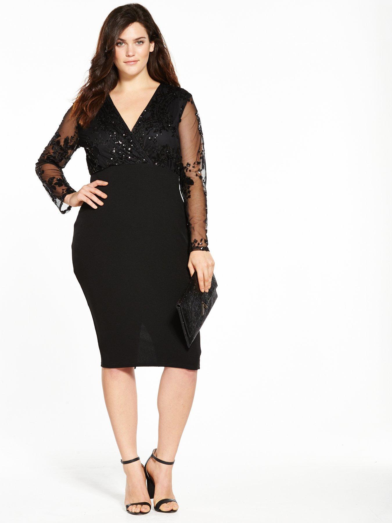 Ax paris black sequin peplum dress