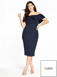 v-by-very-curve-ruffle-bardot-bodycon-dress