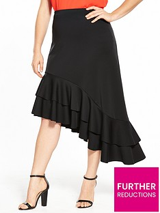 v-by-very-curve-asymmetric-hem-ruffle-skirt