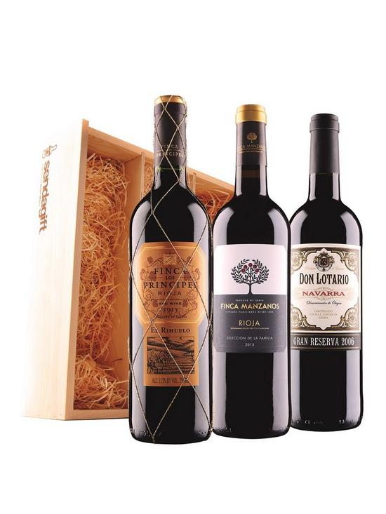 Spanish Red Trio In Wooden Gift Box