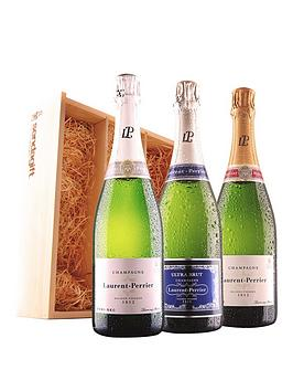 virgin-wines-laurent-perrier-champagne-trio-in-wooden-gift-box