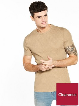 river-island-ss-ribbed-muscle-fit-tshirt