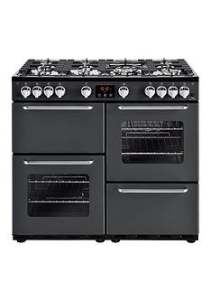 New World NW 100G 100cm Gas Range Cooker with Connection - Charcoal