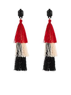 v-by-very-triple-layer-colourblock-tassle-earrings