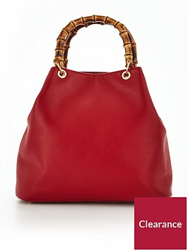 v-by-very-bamboo-handle-large-slouch-bag-red