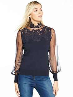 coast-cici-denipal-lace-knit-top