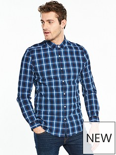 v-by-very-ls-indigo-check-shirt