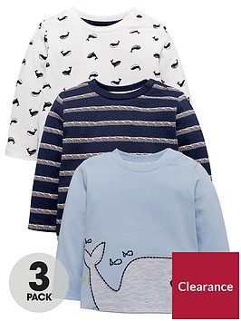 mini-v-by-very-baby-boys-3-pack-whale-amp-stripe-tees