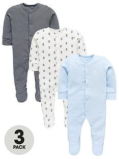 mini-v-by-very-baby-boys-stripe-amp-anchor-3-pack-sleepsuits