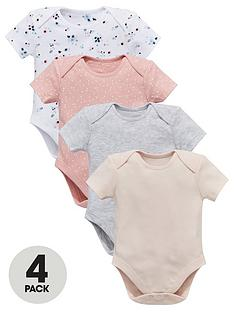 mini-v-by-very-baby-girls-4-pack-short-sleeve-floral-amp-plain-bodysuits