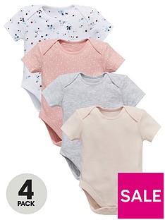 mini-v-by-very-baby-girls-4-pack-short-sleeve-floral-amp-plain-bodysuits