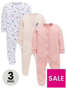 mini-v-by-very-baby-girls-3-pack-floral-amp-plain-sleepsuits