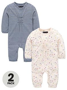 mini-v-by-very-baby-girls-2-pack-floral-amp-stripe-long-sleeved-rompers