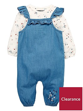 mini-v-by-very-frill-denim-dungaree-amp-floral-body-set-denim