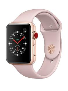 Apple Watch Series 3 (GPS + Cellular), 42mm Gold Aluminium Case with Pink Sand Sport Band