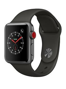 Apple Watch Series 3 (GPS + Cellular), 38mm Space Grey Aluminium Case with Grey Sport Band
