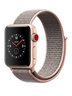 Apple Watch Series 3 (GPS + Cellular), 38mm Gold Aluminium Case with Pink Sand Sport Loop