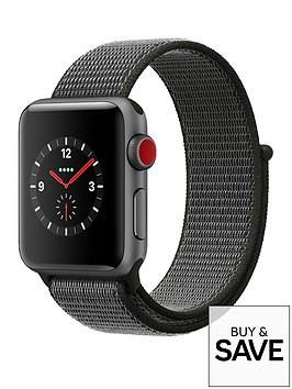 apple-watch-series-3-gps-cellular-38mm-space-grey-aluminium-case-with-dark-olive-sport-loop