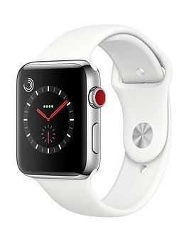 apple-watch-series-3-gps-cellular-42mm-stainless-steel-case-with-soft-white-sport-band