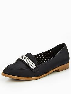 v-by-very-tessy-diamante-trim-loafer-black