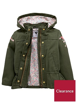 mini-v-by-very-girls-floral-lined-embroidered-canvas-parka-green