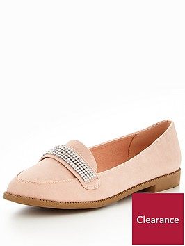 v-by-very-tessy-diamante-trim-loafer-nude