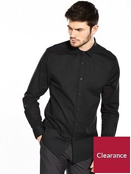 v-by-very-long-sleeve-slim-stretch-poplin-shirt