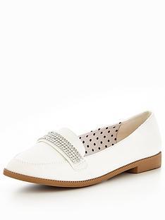 v-by-very-tessy-diamante-trim-loafer-white