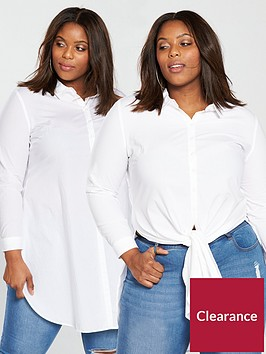 v-by-very-curve-2-way-knot-front-longline-shirt