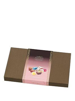 van-roy-deluxe-rigid-box-with-a-selection-of-belgian-chocolates-amp-french-truffles-375gm