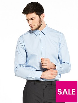 v-by-very-easy-to-iron-long-sleeve-tailored-fit-shirt-blue