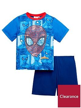 spiderman-boys-shorty-pyajams
