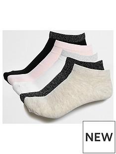 river-island-river-island-ziggy-neutral-5-pack-sock