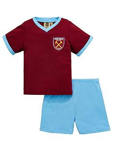west-ham-united-west-ham-united-shorty-football-pyjamas-set