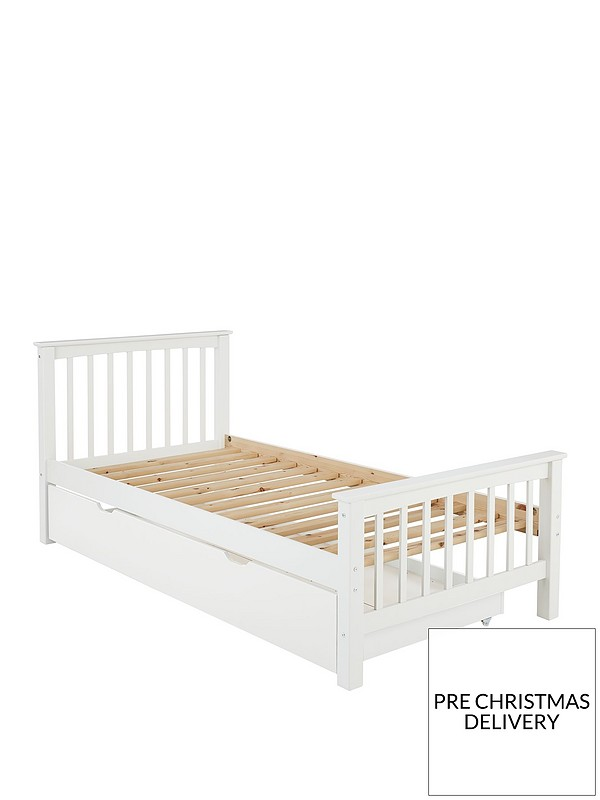 Novara Kids Single Bed Frame With Optional Mattress Buy And Save Excludes Trundle Very Co Uk