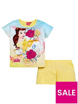disney-beauty-and-the-beast-beauty-and-the-beast-girls-shorty-pyjamas