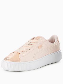 Puma Basket Platform Canvas - Pink