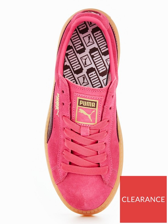 f7d226dbc7b ... Puma Suede Platform Trace Block - Pink Burgundy. View larger