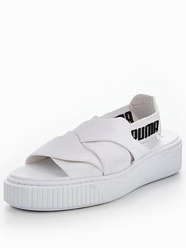 puma-platform-sandal-white
