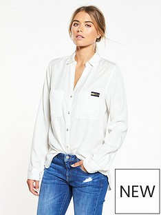 superdry-tencel-shirt-white