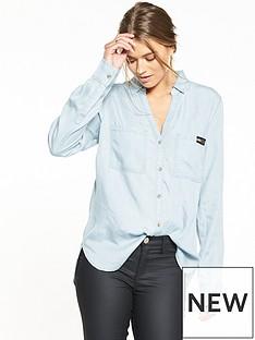 superdry-tencel-shirt-powder-blue