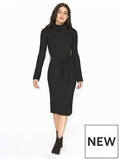 girls-on-film-belted-knit-maxi-jumper-dress-black