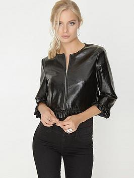 girls-on-film-cracked-vinyl-short-jacket-black