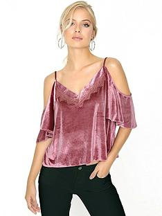 girls-on-film-girls-on-film-dusty-pink-velvet-lace-trim-cami-top