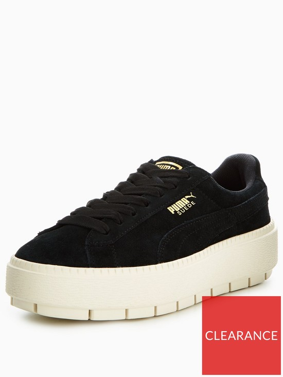 76442f66508 Puma Suede Platform Trace - Black | very.co.uk