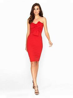 girls-on-film-red-boobtube-dress